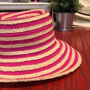 San Diego Hat Co Ribbon Striped Small Brim Sun Hat